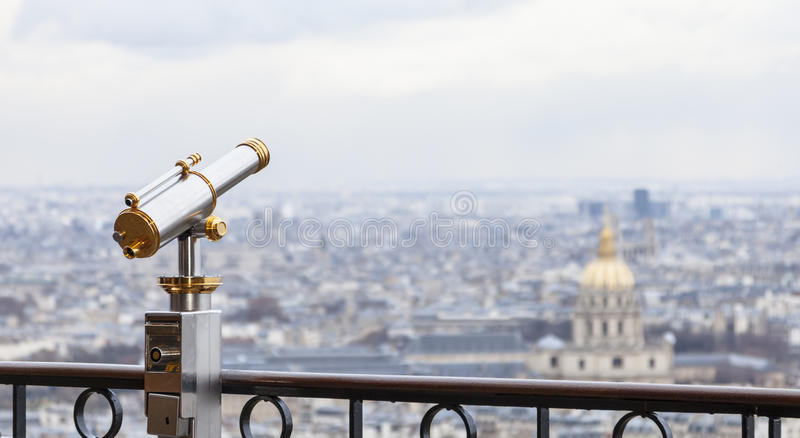 Parisian Telescope stock photography