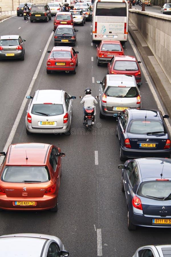The Parisian traffic stock photo