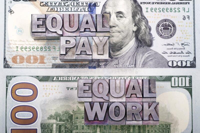 Parità salariale per lavoro immagini stock libere da diritti