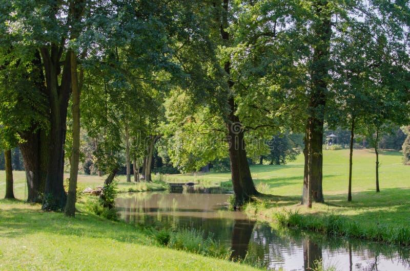 Park冯Muskau, Muskauer公园lub FÃ ¼ rst-PÃ ¼ ckler公园,公园MuÅ ¼ akowski 库存图片
