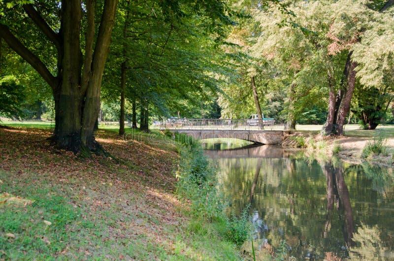 Park冯Muskau, Muskauer公园lub FÃ ¼ rst-PÃ ¼ ckler公园,公园MuÅ ¼ akowski 免版税图库摄影