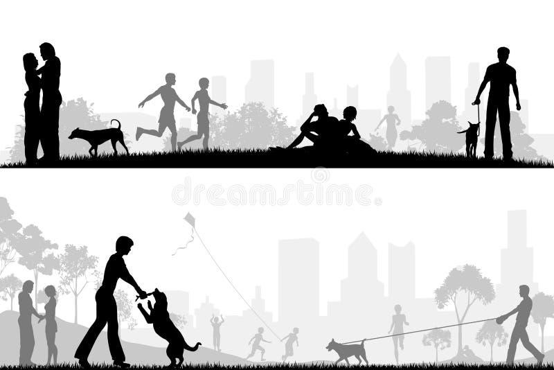 park royaltyfri illustrationer