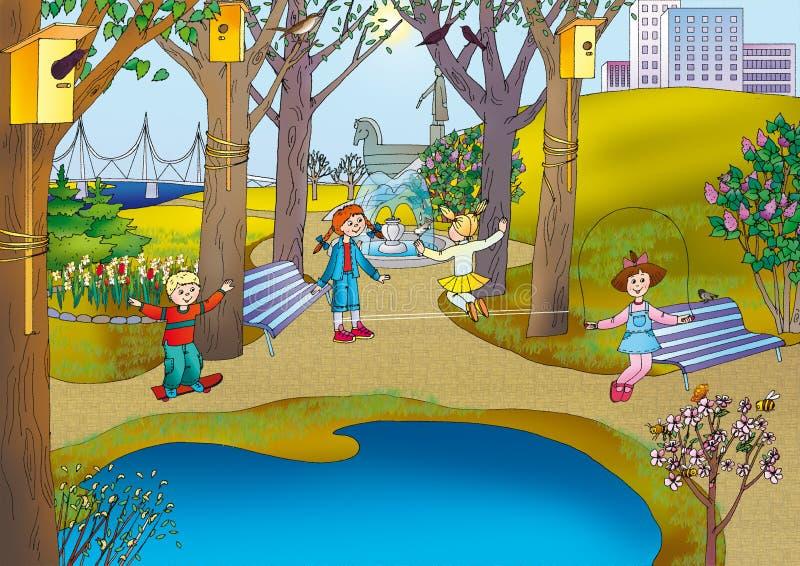 Park royalty-vrije illustratie