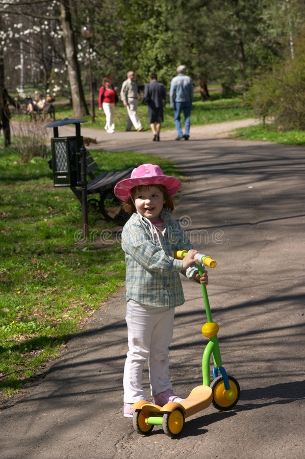 Download In the park stock image. Image of girl, walking, joyful - 2317693