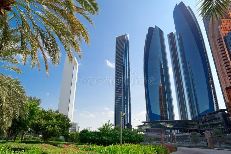 Park in Abu Dhabi city stock photo