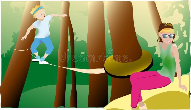 Download Park adventure stock vector. Illustration of greenery - 14967005