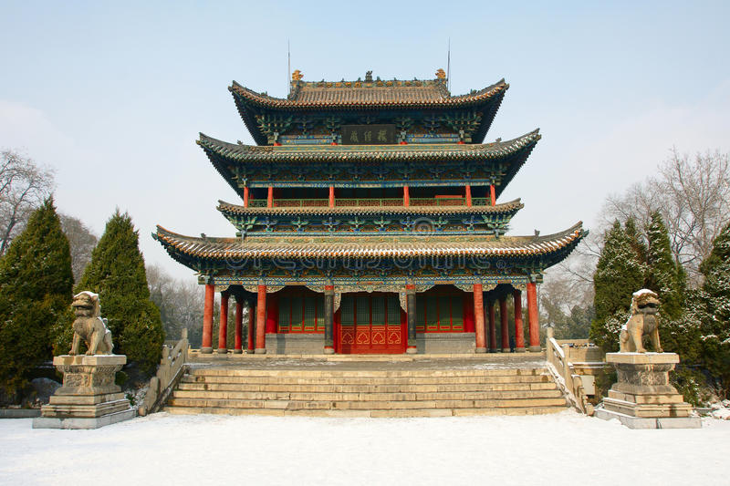 Download Park ancient building stock photo. Image of tree, taiyuan - 12209796