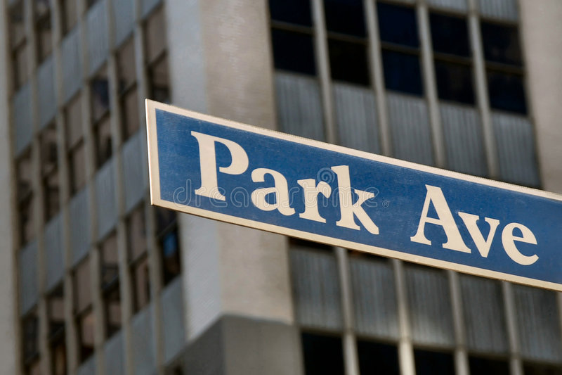 Park Avenue stockbild