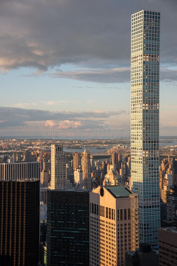 432 Park Avenue building in Manhattan (NYC, USA. 432 Park Avenue in NYC is the tallest residential building in the world royalty free stock image