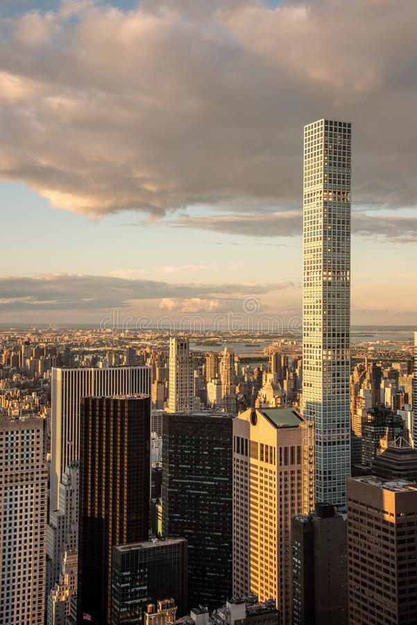 432 Park Avenue building in Manhattan (NYC, USA. 432 Park Avenue in NYC is the tallest residential building in the world royalty free stock photography