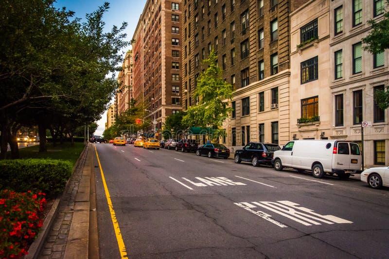 Park Avenue i den övreöstliga sidan, Manhattan, New York arkivbild