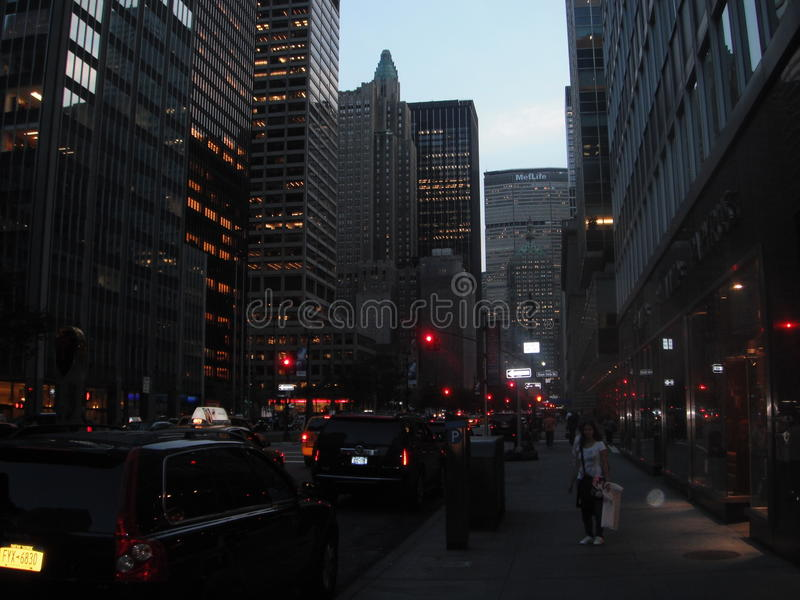 Park Avenue - New York. New York views of Park Avenue, including Metlife building royalty free stock photos