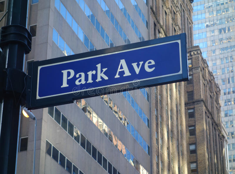 Park Avenue in New York City royalty free stock image