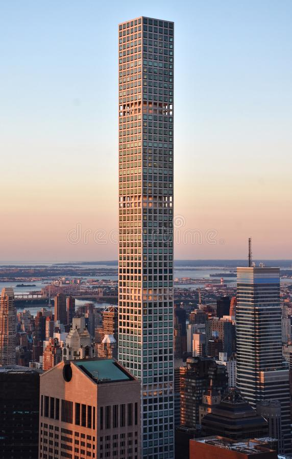 432 Park Avenue at Sunset stock images