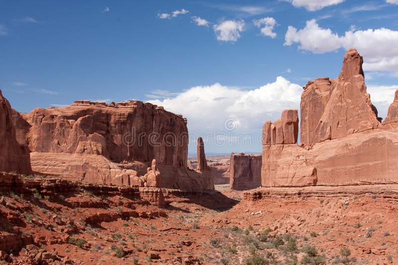 Park Avenue Viewpoint At Arches National Park Stock Photos