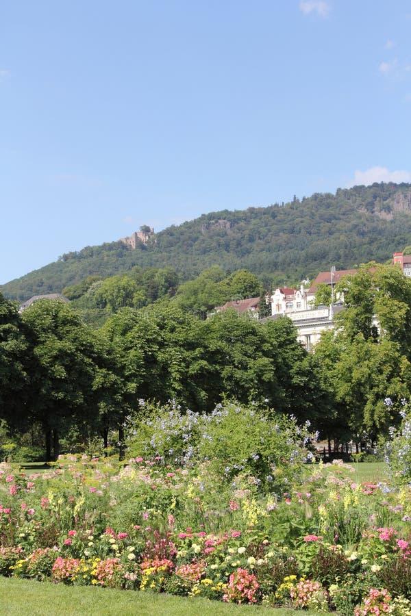 Park in Baden-Baden, Germany royalty free stock photo