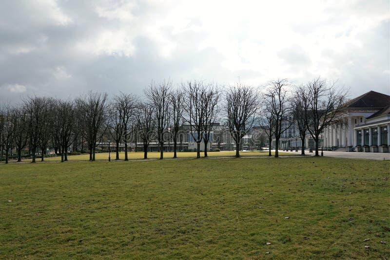 Park in baden baden in germany stock image
