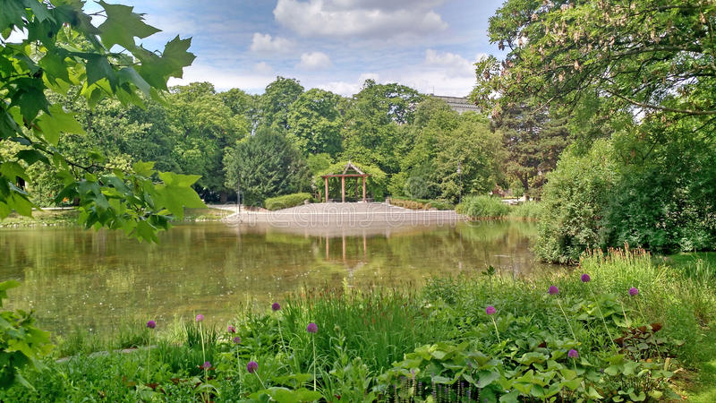 PARK BANDSTAND royalty free stock photography