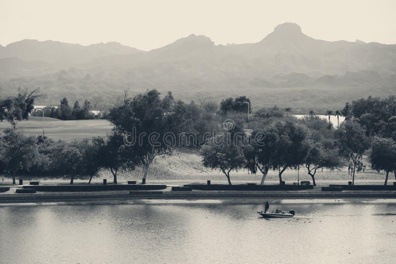 Park bei Lake Havasu lizenzfreie stockfotografie