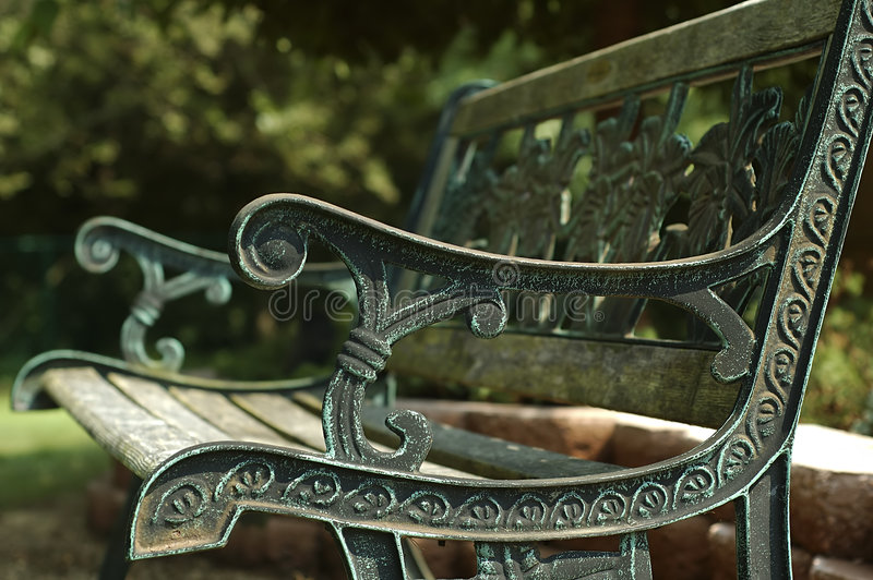 Download Park Bench stock photo. Image of bench, relax, armrest, park - 19444