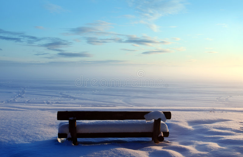 Download Park bench stock photo. Image of brown, blue, empty, winter - 8338992