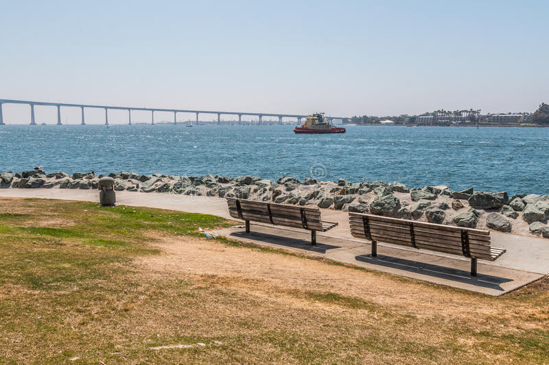 Download Park Benches At Embarcadero Park South In San Diego Stock Image - Image of city, harbor: 77171653