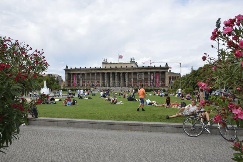 Park in Berlijn stock afbeeldingen
