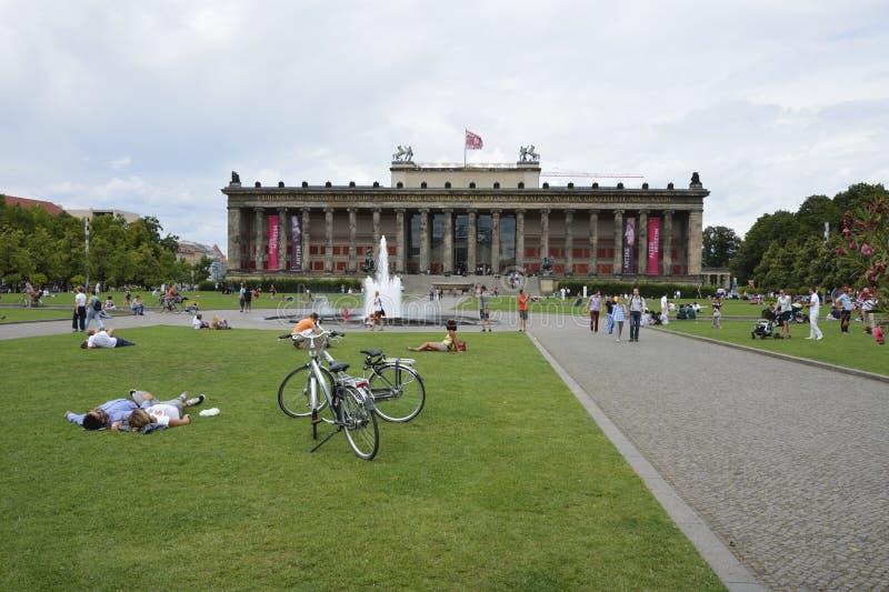 Park in Berlijn stock foto