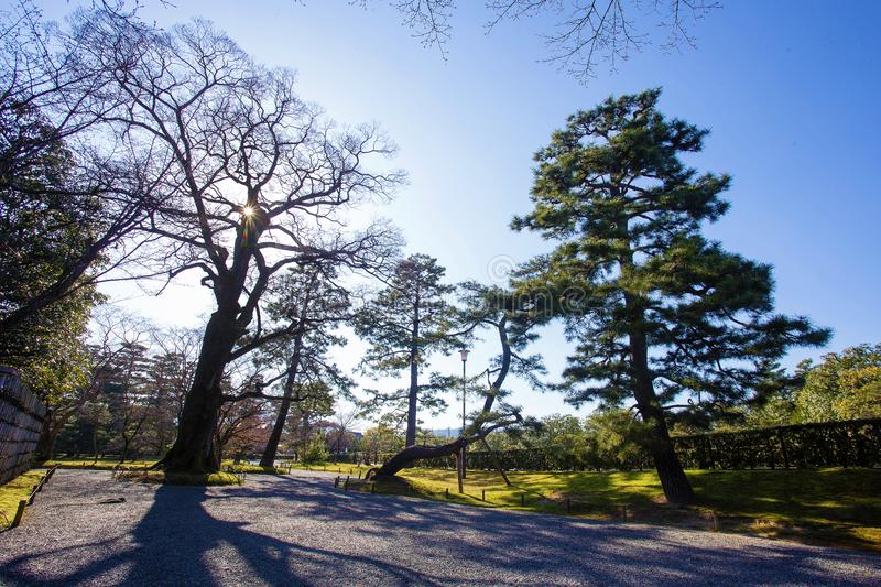 Park blisko Imperor pałac fotografia stock