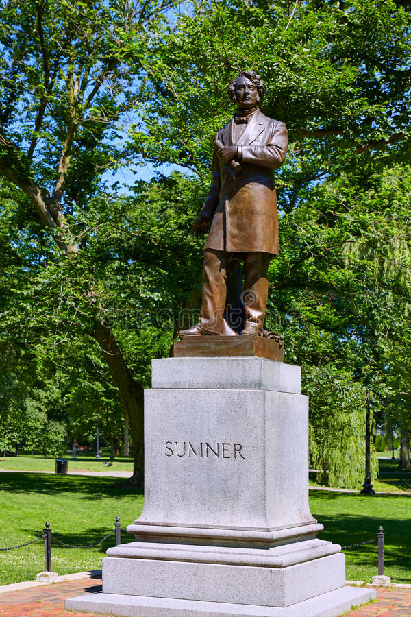 Park Bostons allgemeines Sumner-Monument lizenzfreies stockfoto