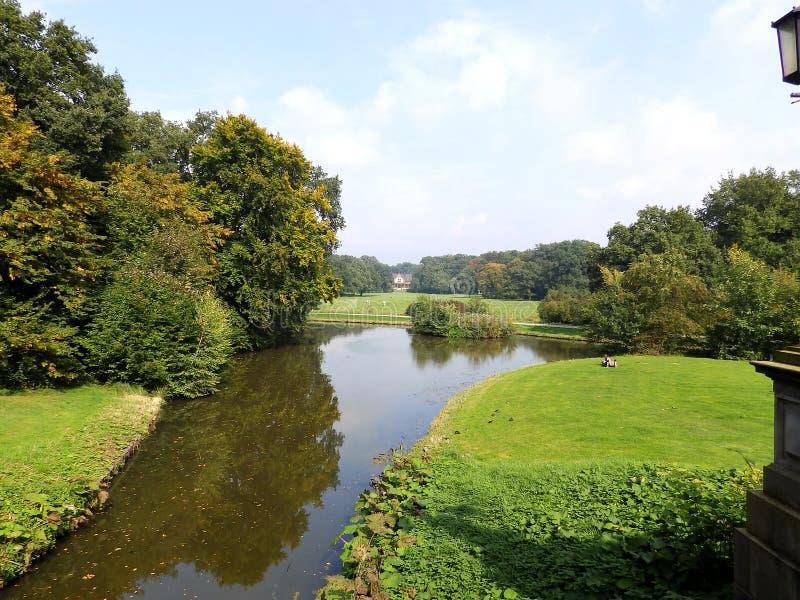 Park in Bremen, Duitsland royalty-vrije stock afbeeldingen