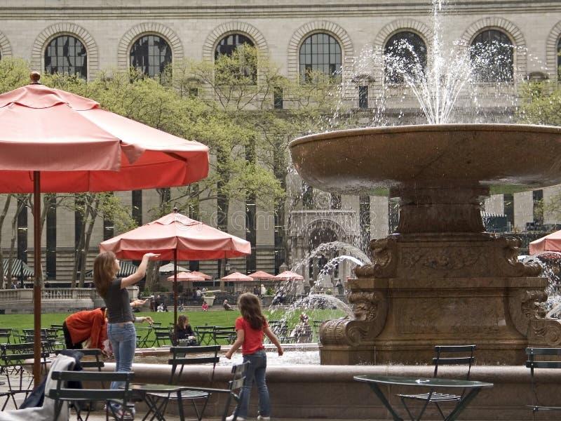 Park-Brunnen stockfoto