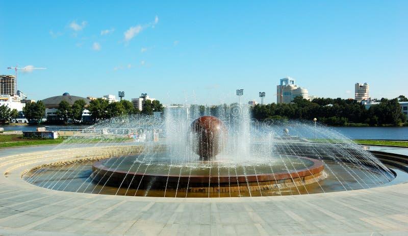 Park, Brunnen stockfotografie