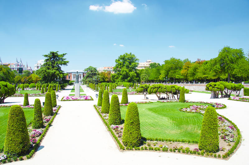 Park buen-Retiro, Madrid royalty-vrije stock afbeelding