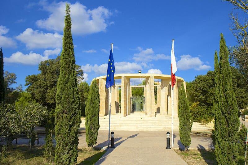 Park in Bugibba, Malta stockbilder