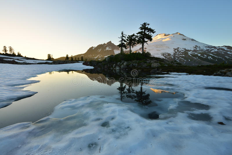 Park Butte, Mt. Baker National Recreation Area royalty free stock photo