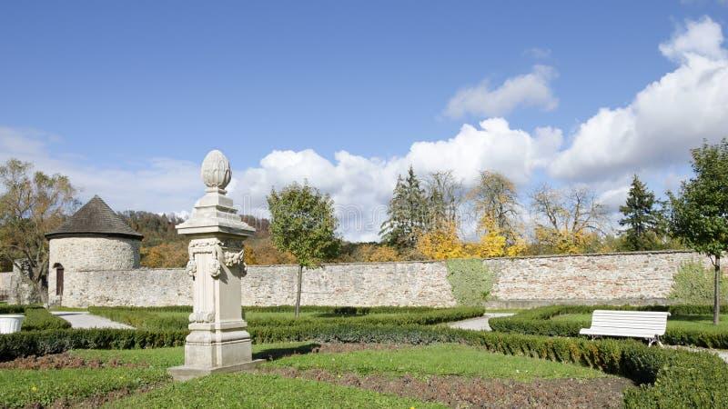 The park of Cerveny Kamen castle stock image