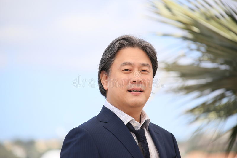 Park Chan-Wook. Attends 'The Handmaiden (Mademoiselle)' photocall during the 69th annual Cannes Film Festival at the Palais des Festivals on May 14, 2016 in stock photography