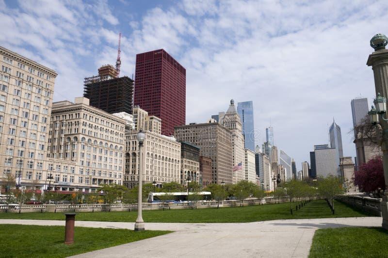 Park in Chicago stock photos