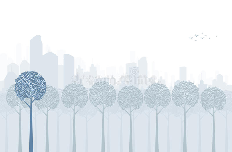 Park in the City stock illustration