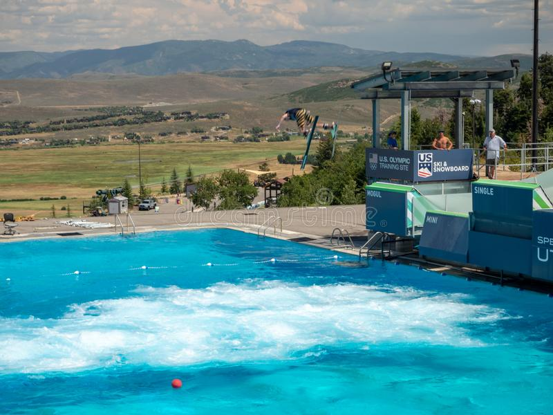 Park City, Utah, Etats-Unis, Amérique : [village olympique de centre près de Salt Lake City image stock