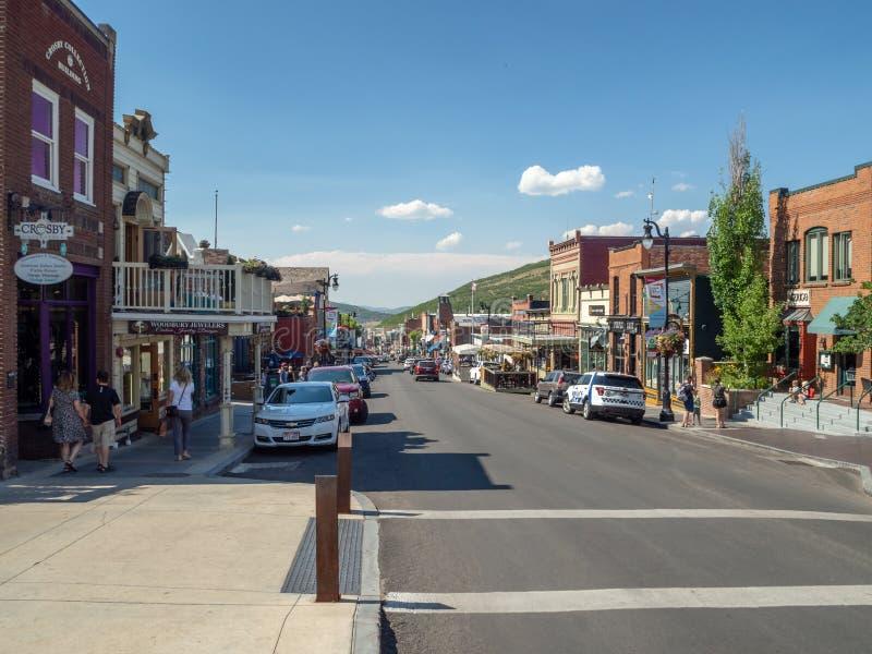 Park City, Utah, Stati Uniti, America: [villaggio olimpico concentrare vicino a Salt Lake City fotografia stock