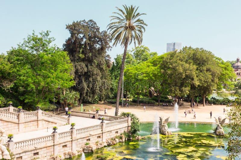 Park de La Ciutadella. Barcelona, Catalonia, Spain 05/30/2018. Park De la Ciutadella royalty free stock photo
