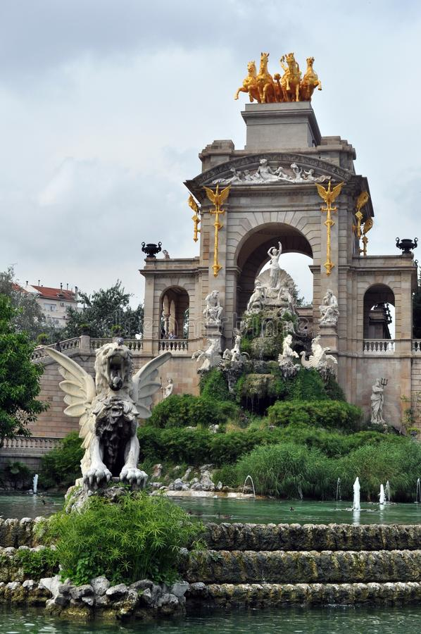 Park de la ciutadella, Barcelona. Monument at Park de la Ciutadella in Barcelona, Spain royalty free stock photo
