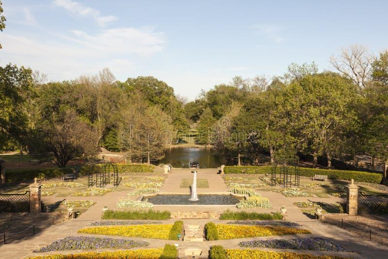 Park in de stad van Fort Worth, TX, de V.S. royalty-vrije stock foto