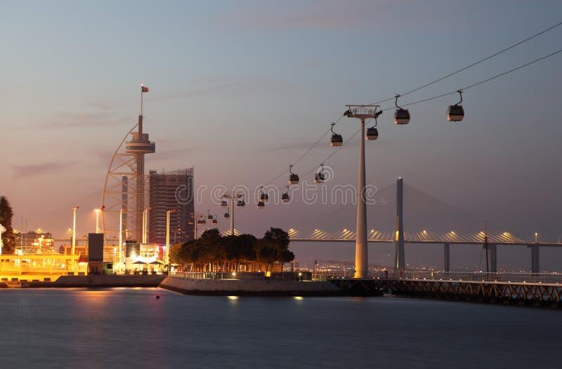 Park der Nationen, Lissabon stockbilder