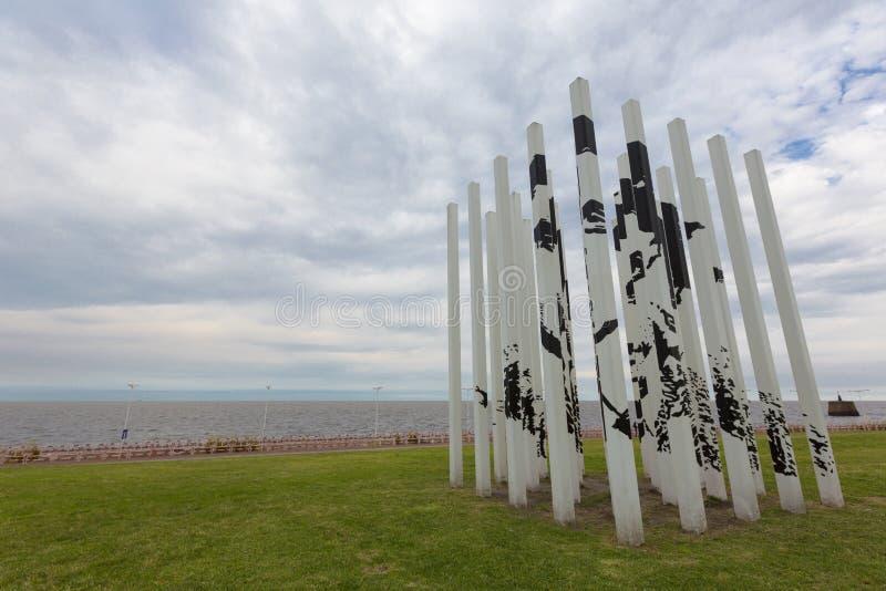 Park des Gedächtnisses in Buenos Aires, Argentinien stockbilder