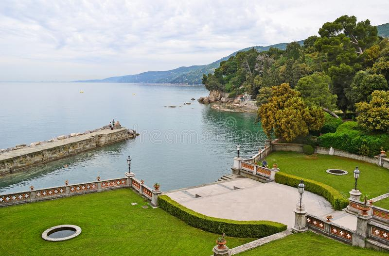 Park of Duino Castle, Trieste, Italy royalty free stock image