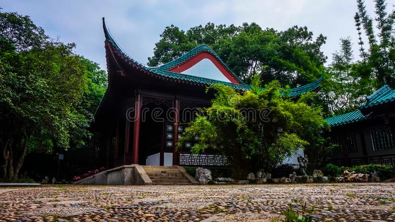 Park on the East Lake in Wuhan stock images