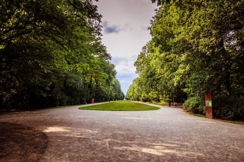 """Park en kasteel """"Star† op Witte Berg in Praag, Tsjechische Republiek stock fotografie"""